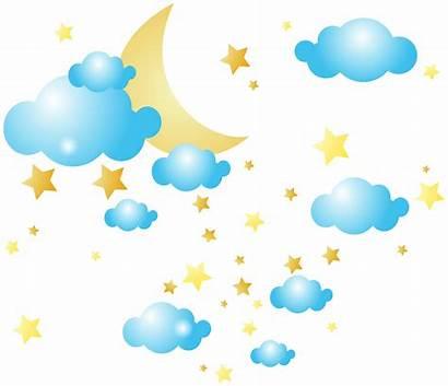Moon Stars Clipart Clip Star Cloud Clouds