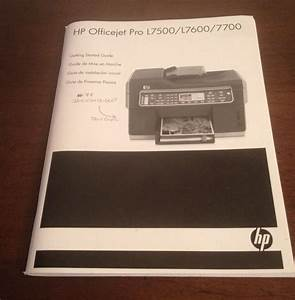 Hp Officejet Pro L7500  L7600  L7700 Original Manual Guide