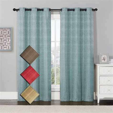 Thermal Curtains by Murry Jacquard Thermal Insulated Blackout Curtain Pair