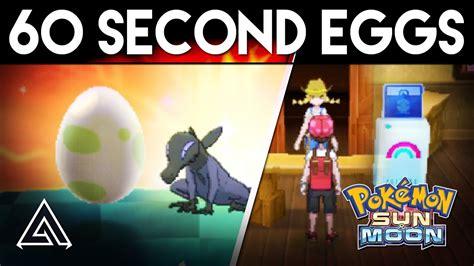 pokemon sun  moon   hatch  egg   seconds