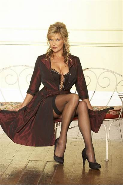 Claire King Stockings Wearing Morning