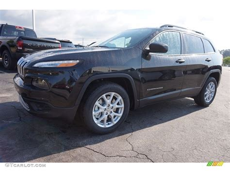 black jeep cherokee 2016 2016 brilliant black crystal pearl jeep cherokee sport