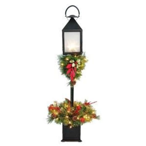 christmas tree at home depot home accents 4 ft lantern pre lit porch tree w 6160