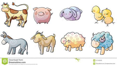 cute farm animals stock illustration image  digital