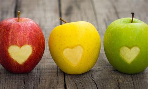 mindestens zwei aepfel  tag beugen herzkrankheiten vor