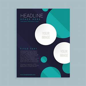 Flyer Brochure Template Design With Circles