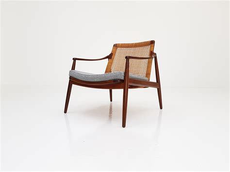 A Teak And Cane Armchair Designed By Hartmut Lohmeyer, 1950's
