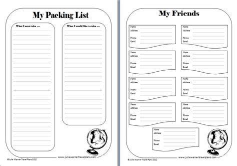 Travel Template For Kids by Printable Travel Journal Template Travel Journal