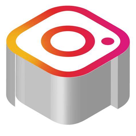 instagram icon transparent vector instagram isometric icon transparent png svg vector