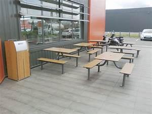 Mobilier De Terrasse : mobilier terrasse restaurant pique nique bancs et tables am d ~ Teatrodelosmanantiales.com Idées de Décoration