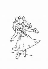 Hula Cartoon Dancing Coloring Pages Hawaiian Print Printable Dancer Coloringonly Categories Game sketch template