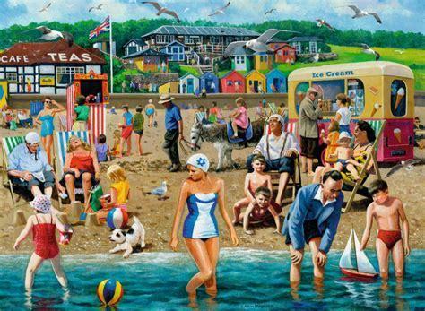 Ravensburger 14657 At The Beach Vintage Style Scene 500