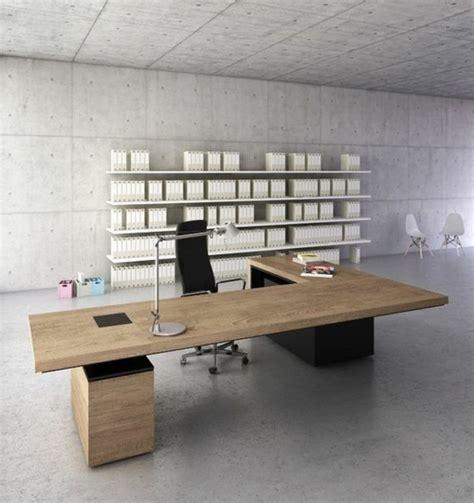 grand bureau bois le mobilier de bureau contemporain 59 photos inspirantes