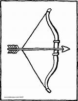Bow Arrow Colouring Drawing Kiddicolour Pages Tag Kiddi 01v Kleurprenten Receiver Mail sketch template
