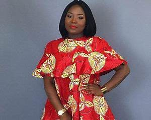 Vetements africain africaine robe rouge robe ankara for Robe rouge évasée