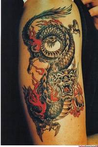 Drachen Tattoo Oberarm : chinesischer drachen tattoo bunt tattoos pinterest drachen tattoo tattoo bunt und ~ Frokenaadalensverden.com Haus und Dekorationen