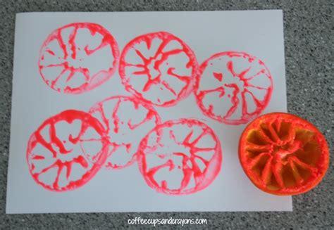 orange craft and snack for preschool 383 | Preschool Orange Craft...Make Orange Prints