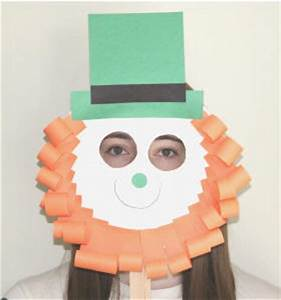 leprechaun paper plate craft no template version With leprechaun mask template
