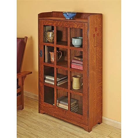 arts  crafts bookcase woodworking plan  wood magazine