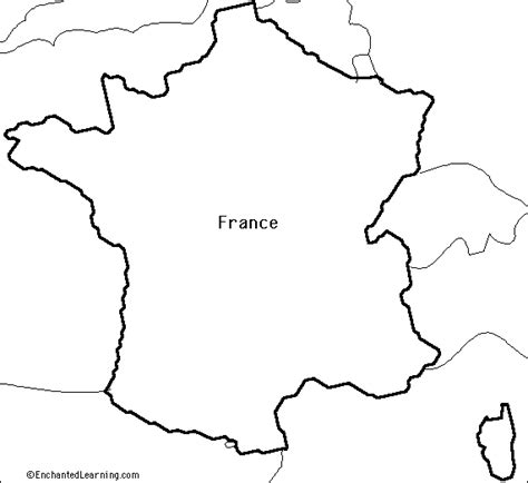 outline map research activity  france