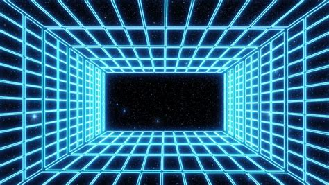 blue neon grid room environment stock footage video  royalty   shutterstock