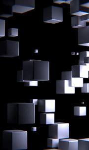 3D Grey Cubes 4K UHD Wallpaper