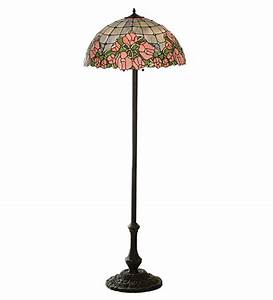 tiffany cabbage rose floor lamp all things tiffany With pink rose floor lamp