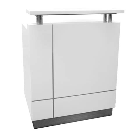 white reception desk genie mini white gloss reception desk fast office furniture