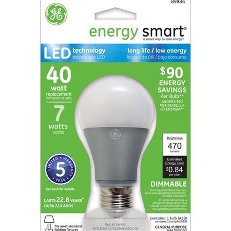 general electric light bulbs buy ge energy smart led 7w sw a19 light bulb 1 pack walmart com