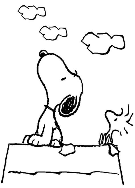 snoopy snoopy  woodstock    sky coloring
