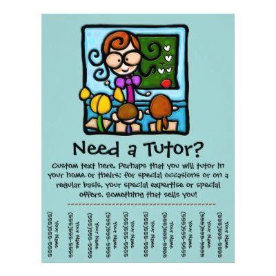 flyer tear  tabs template flyer tutoring tutoring