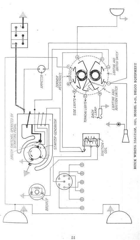 1921 Motor Vehicles 6 - 21 Deco Principle Wiring Diagram