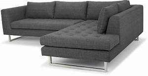 janis dark grey tweed raf sectional sofa from nuevo With grey tweed sectional sofa
