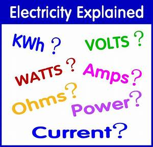 Watts  Amps  Volts  Kilowatt Hours  Kwh  And Electrical