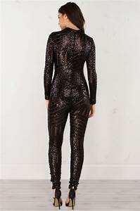 Adidas Australia Size Chart Long Sleeve Sequin Jumpsuit In Black