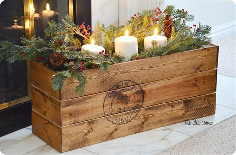 holiday wood storage box ideas vintage diy crate