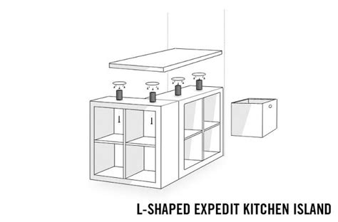 expedit kitchen island ikea hackers l shaped expedit kitchen island ikea decora 3624