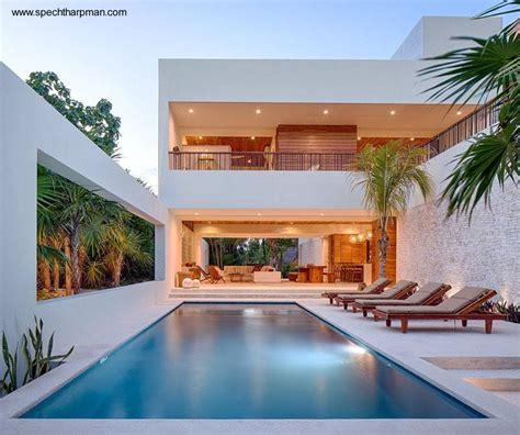 Moderna Casa De Playa En Tulum México  Arquitectura De Casas