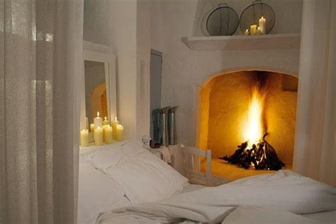 Romantic Bedroom With A Fireplace  Dream Autumn Geta