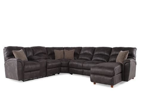 Reclining Sectional Sofas Microfiber by Microfiber 118 Quot Power Reclining Sectional In Gray Mathis