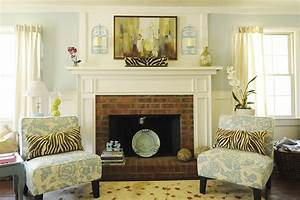 Fireplace mantel art living room contemporary with white for Applying the harmony to your living room paintings