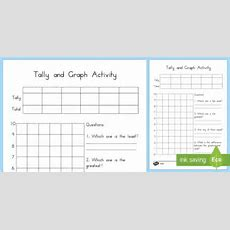 Tally And Graph Worksheet Template  Australia, Tally, Graph