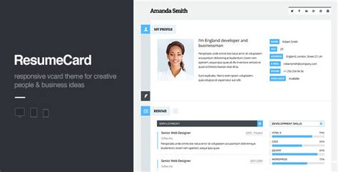 Personal Website Resume Theme by 35 Personal Resume Portfolio Themes Tutorial Zone