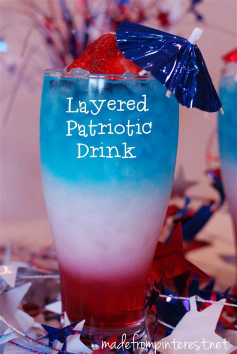 patriotic drinks layered patriotic drink made from pinterest