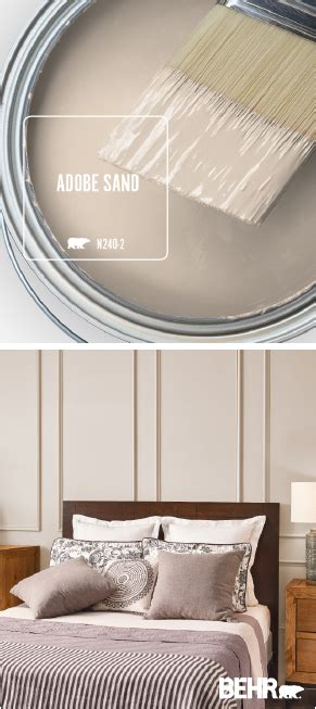 when paired with furniture and a neutral color palette adobe sand by behr 174 paint