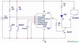 Panic Alarm Button Circuit Using 555 Timer Ic  U2013 Arroboticsblog