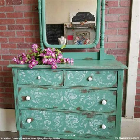 funky kitchen cabinets finishing your furniture with stencil designs diy 1122