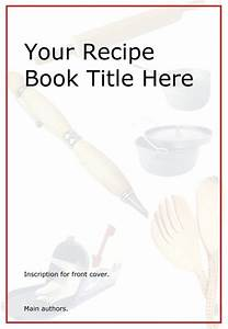 free printable kids cookbook this template is available With cookbook covers template