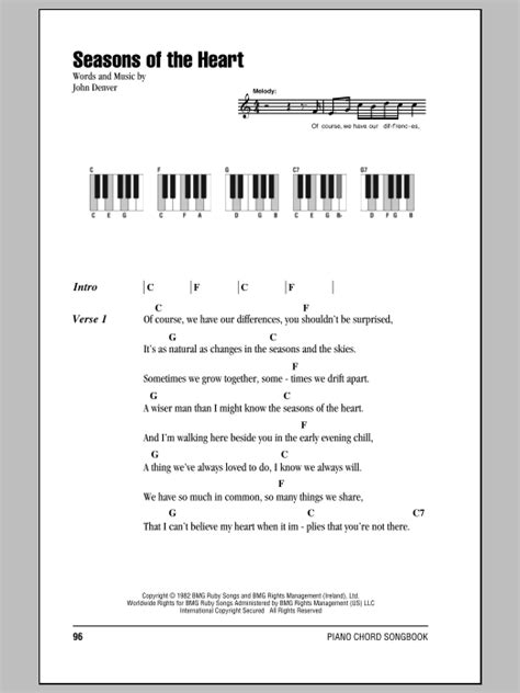 seasons   heart sheet  john denver piano