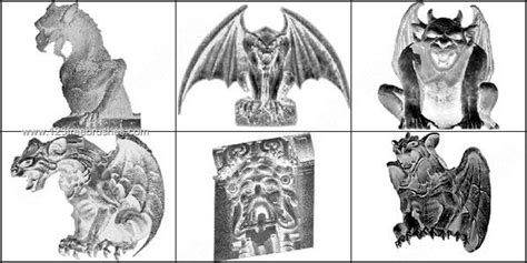 Gothic Gargoyles Brushes For Photoshop 7  Photoshop Free